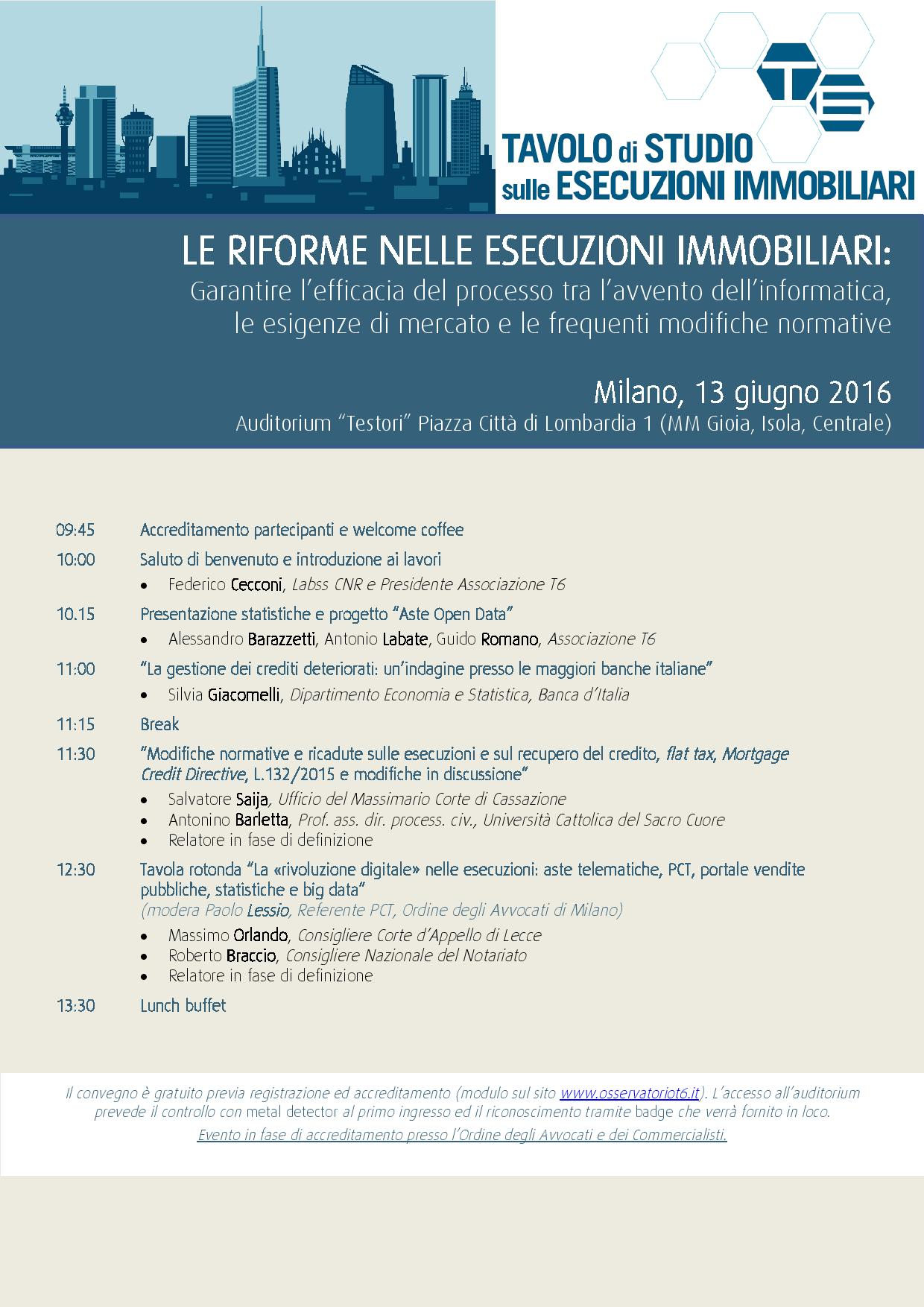 LE RIFORME NELLE ESECUZIONI IMMOBILIARI: Garantire l'efficacia del processo tra l'avvento dell'informatica, le esigenze di mercato e le frequenti modifiche normative