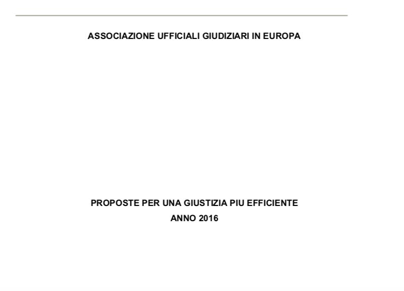 Proposte di riforma per una giustizia più efficiente anno 2016