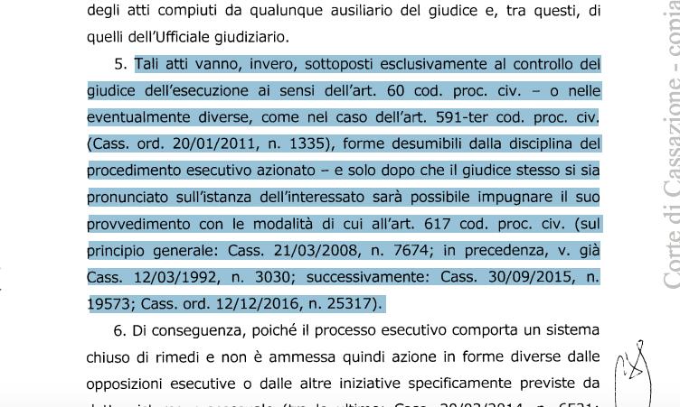 Ufficiale Giudiziario atti impugnabili ex art. 60 cpc