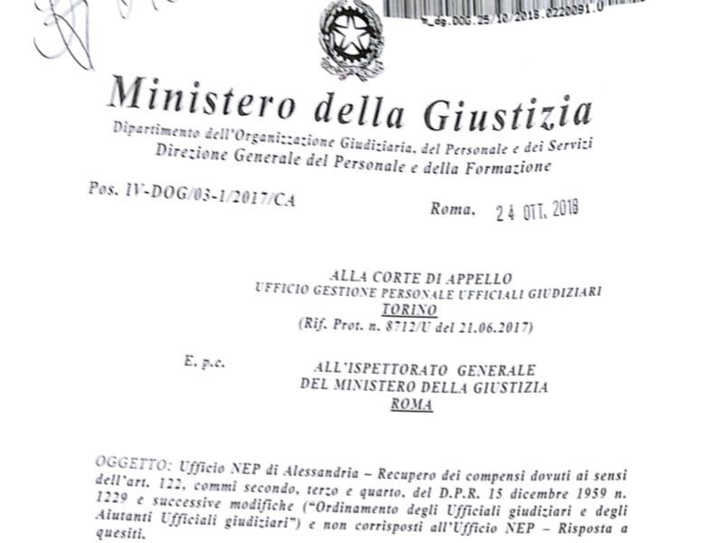 Risposta del 24 ottobre 2018 sul recupero dei compensi dovuti ai sensi dell'art. 122